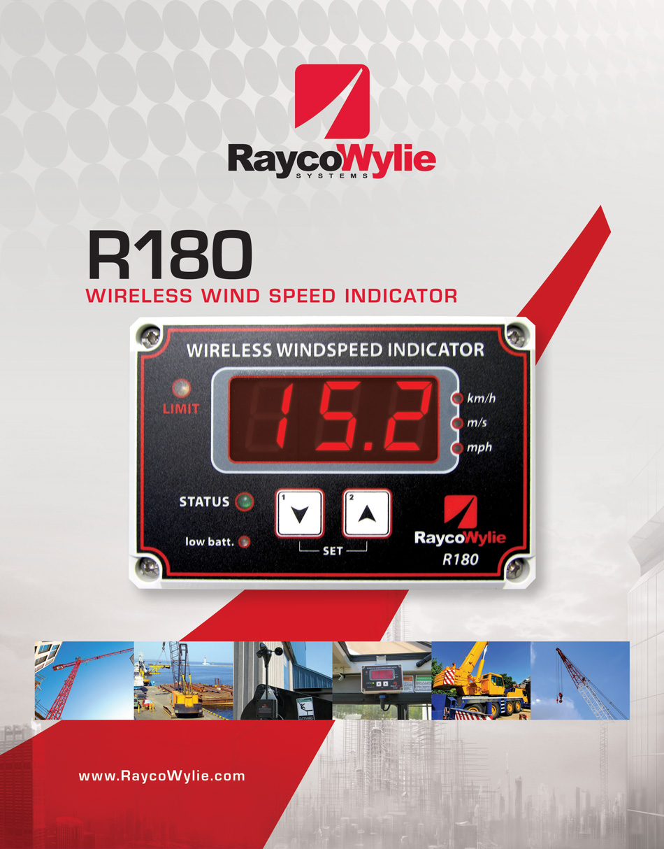 Raycowylie R180 Wireless Wind Speed Indicator Crane